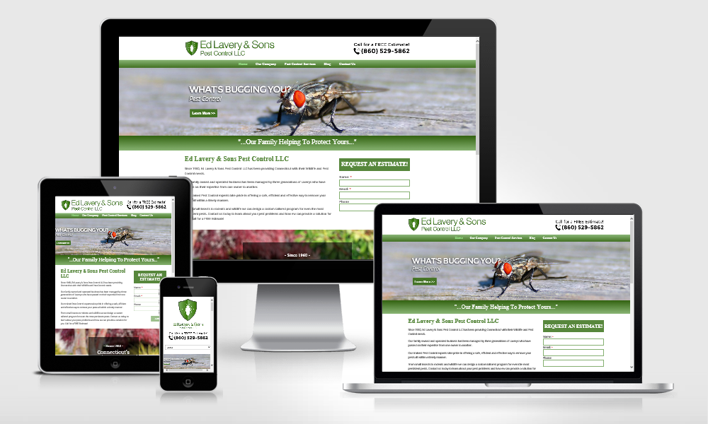 Ed Lavery & Sons Pest Control Website